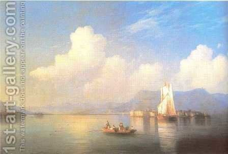 Italian landscape by Ivan Konstantinovich Aivazovsky - Reproduction Oil Painting