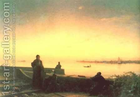 Mhitarists on island of St Lazarus by Ivan Konstantinovich Aivazovsky - Reproduction Oil Painting