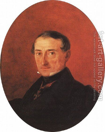 Portrait of A I Kaznacheev by Ivan Konstantinovich Aivazovsky - Reproduction Oil Painting