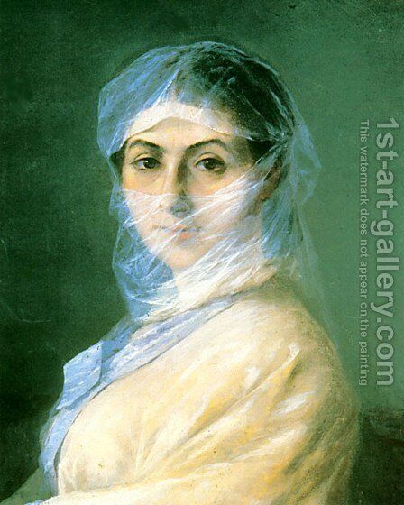 Portrait of the Artists wife by Ivan Konstantinovich Aivazovsky - Reproduction Oil Painting