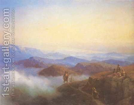 Range of the Caucasus mountains by Ivan Konstantinovich Aivazovsky - Reproduction Oil Painting
