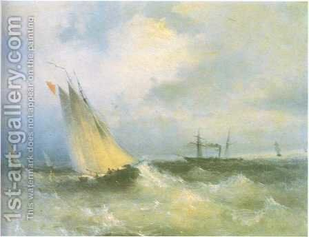Seascape 1 by Ivan Konstantinovich Aivazovsky - Reproduction Oil Painting