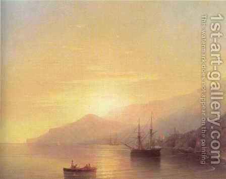 Ships on a raid by Ivan Konstantinovich Aivazovsky - Reproduction Oil Painting