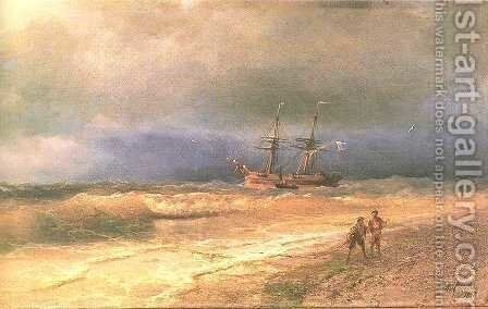 Surf by Ivan Konstantinovich Aivazovsky - Reproduction Oil Painting