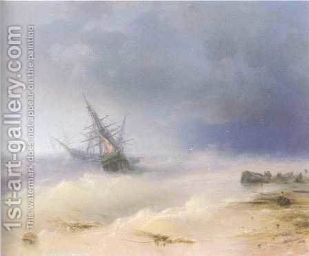 Tempest 2 by Ivan Konstantinovich Aivazovsky - Reproduction Oil Painting