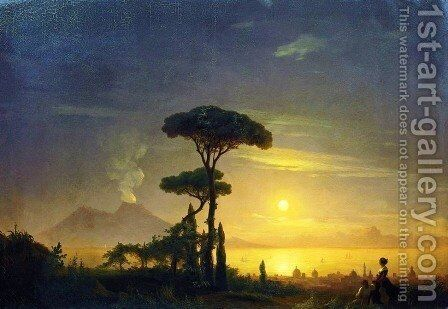 The Bay of Naples 1 by Ivan Konstantinovich Aivazovsky - Reproduction Oil Painting