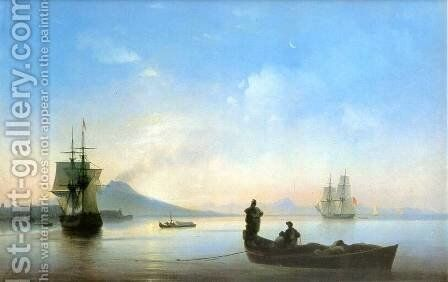 The Bay of Naples on morning by Ivan Konstantinovich Aivazovsky - Reproduction Oil Painting