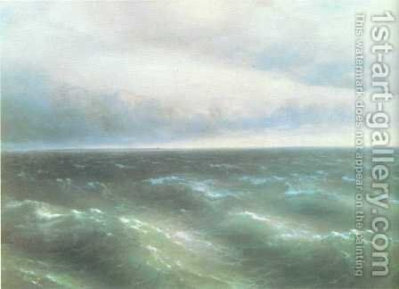 The Black Sea by Ivan Konstantinovich Aivazovsky - Reproduction Oil Painting