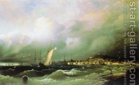 The Old Feodosia by Ivan Konstantinovich Aivazovsky - Reproduction Oil Painting