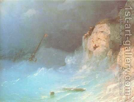 The Shipwreck 8 by Ivan Konstantinovich Aivazovsky - Reproduction Oil Painting