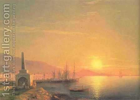 The Sunrise in Feodosiya by Ivan Konstantinovich Aivazovsky - Reproduction Oil Painting