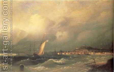 View of Feodosiya by Ivan Konstantinovich Aivazovsky - Reproduction Oil Painting