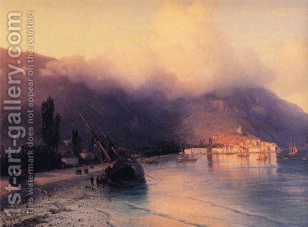 View of Yalta by Ivan Konstantinovich Aivazovsky - Reproduction Oil Painting