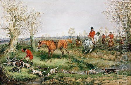 Hunting Scene by Henry Alken - Reproduction Oil Painting