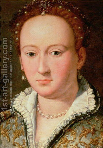 Portrait of Bianca Cappello 1580 by Alessandro Allori - Reproduction Oil Painting