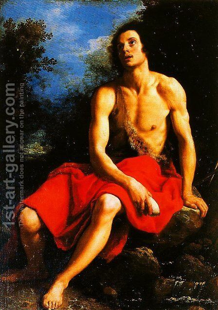 St John the Baptist in the Desert by Cristofano Allori - Reproduction Oil Painting