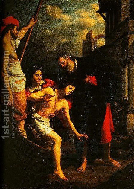 The Hospitality of St Julian by Cristofano Allori - Reproduction Oil Painting