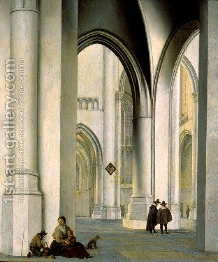 Interior of the St. Bavo Church, Haarlem by Pieter Jansz - Reproduction Oil Painting