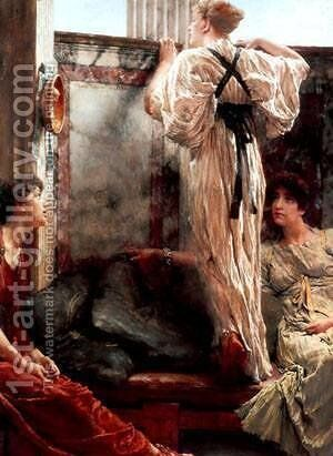 A Birth Chamber by Sir Lawrence Alma-Tadema - Reproduction Oil Painting
