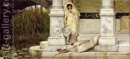 Roman Fisher Girl 1873 by Sir Lawrence Alma-Tadema - Reproduction Oil Painting