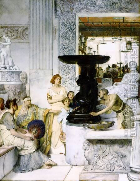 The Sculpture Gallery by Sir Lawrence Alma-Tadema - Reproduction Oil Painting
