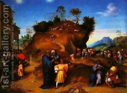 A Story from the Life of Jseph the Hebrew by Andrea Del Sarto - Reproduction Oil Painting