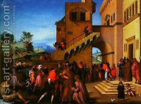 A Story from the Life of Jseph the Hebrew2 by Andrea Del Sarto - Reproduction Oil Painting