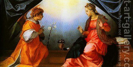 The Annunciation2 by Andrea Del Sarto - Reproduction Oil Painting