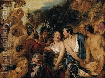 Meleager and Atalante 1618 by Jacob Jordaens - Reproduction Oil Painting