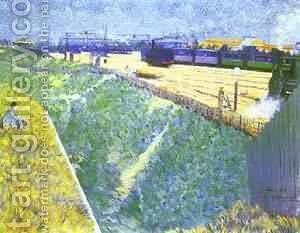 The Western Railway Leaving Paris 1886 by Charles Angrand - Reproduction Oil Painting