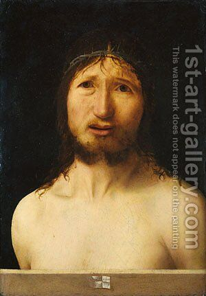 Christ Crowned with Thorns by Antonello da Messina Messina - Reproduction Oil Painting