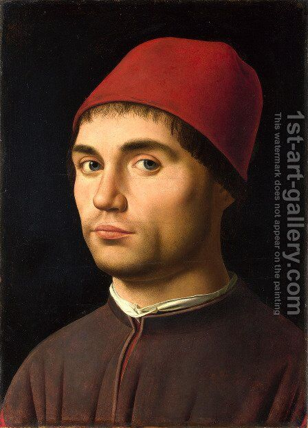 Portrait Of A Man 1475 by Antonello da Messina Messina - Reproduction Oil Painting