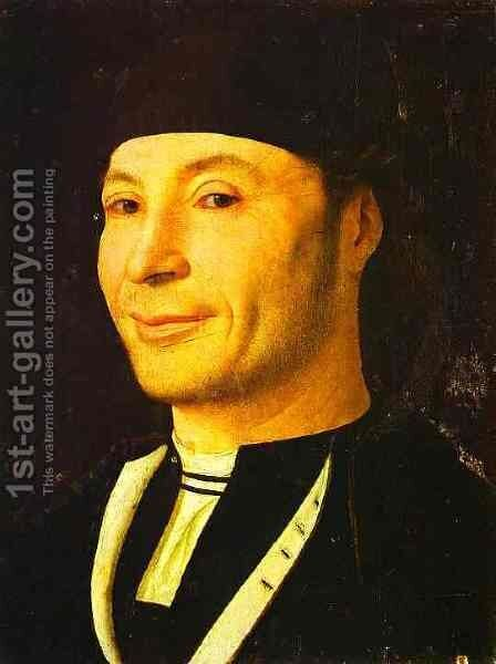 Portrait Of Unknown Man by Antonello da Messina Messina - Reproduction Oil Painting