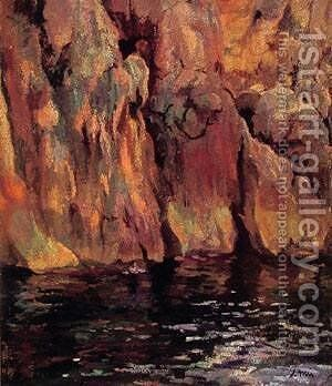 The Grotto by Joaquin Mir Trinxet - Reproduction Oil Painting