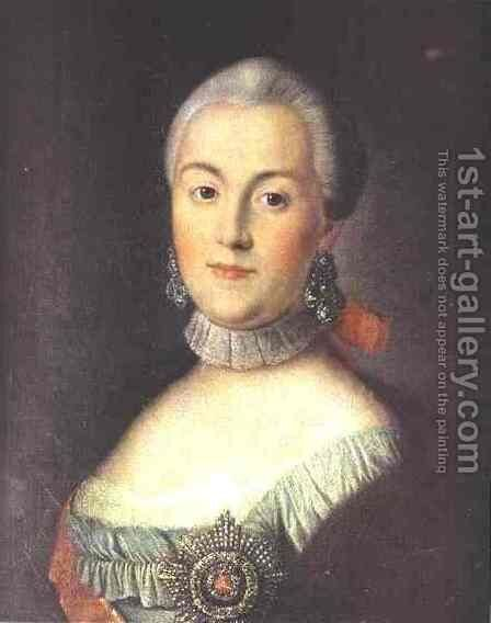 Portrait Of Grand Duchess Catherine Alekseevna Future Empress Catherine Ii The Great 1760s by Aleksei Antropov - Reproduction Oil Painting