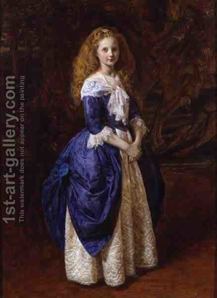 My Great Grandmother 1865 by James Archer - Reproduction Oil Painting