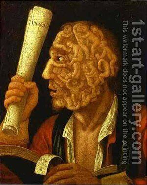 Eve And The Apple With Counterpart1 1578 by Giuseppe Arcimboldo - Reproduction Oil Painting