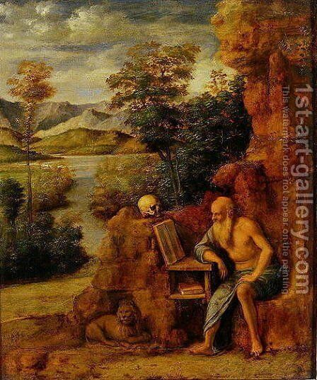 St Jerome 1500 by Balthasar Van Der Ast - Reproduction Oil Painting