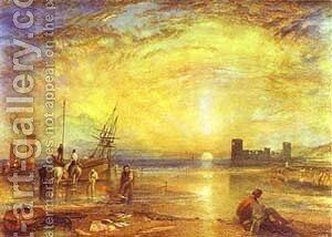 Flint Castle 1838 by Turner - Reproduction Oil Painting