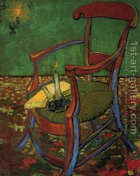 Paul Gauguins Armchair 1888 by Vincent Van Gogh - Reproduction Oil Painting