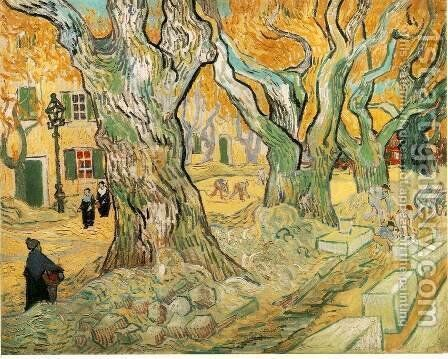 The Road Menders 1889 by Vincent Van Gogh - Reproduction Oil Painting