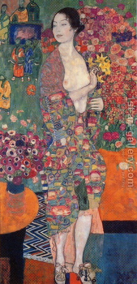 Die Tanzerin (The Dancer) 1916-18 by Gustav Klimt - Reproduction Oil Painting