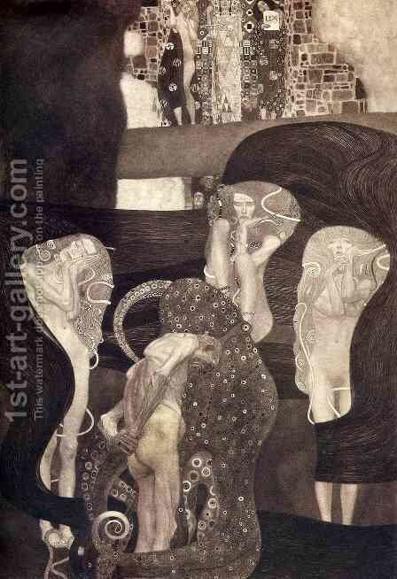 Jurisprudence by Gustav Klimt - Reproduction Oil Painting
