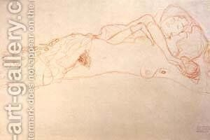 Nude 1905-06 by Gustav Klimt - Reproduction Oil Painting