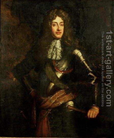 Portrait of King James II by Sir Godfrey Kneller - Reproduction Oil Painting