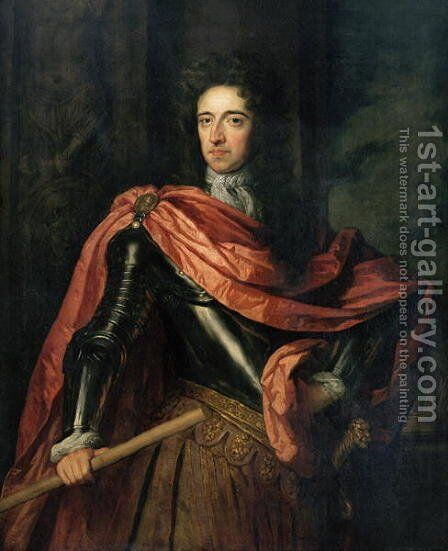 Portrait of William III by Sir Godfrey Kneller - Reproduction Oil Painting