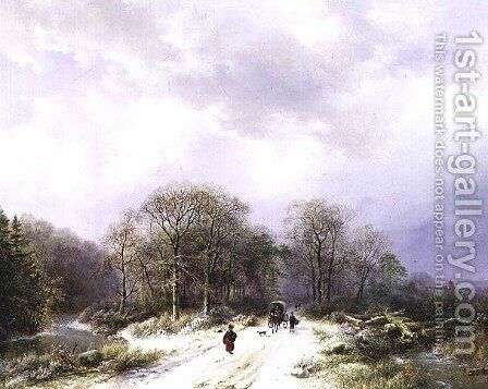 On the Way to Market by Barend Cornelis Koekkoek - Reproduction Oil Painting