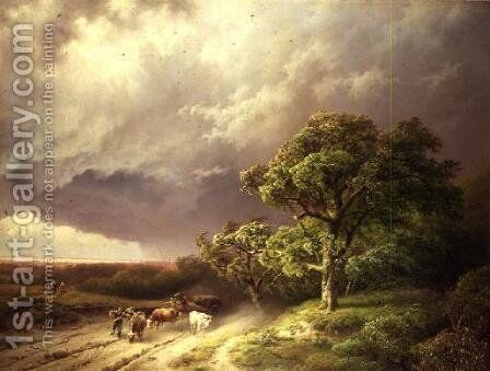 The Coming Storm 1841 by Barend Cornelis Koekkoek - Reproduction Oil Painting