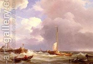 Returning To The Sound by Barend Cornelis Koekkoek - Reproduction Oil Painting