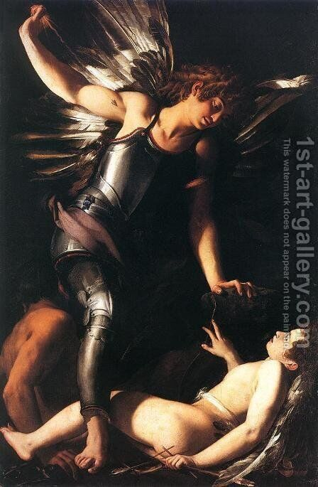 Heavenly Love and Earthly Love 1602 1603 by Giovanni Baglione - Reproduction Oil Painting